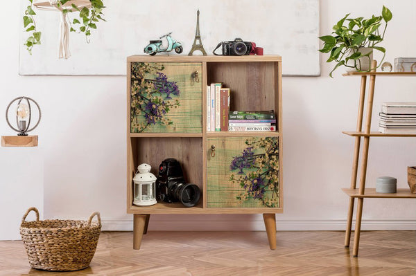 Motto Short Bookcase, Forest Green