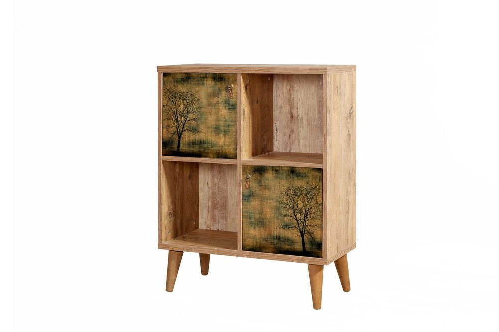 Motto Short Bookcase, Forest Night