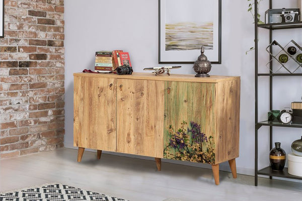 Motto Three Door Sideboard, Forest Green