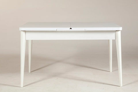 Vina Extending Dining Table, White