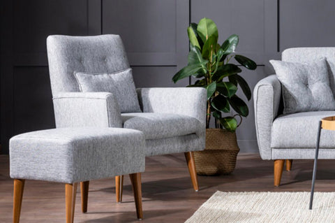 Zeni Armchair, Grey