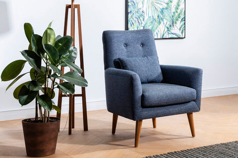Zeni Armchair, Navy Blue