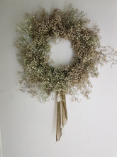 Load image into Gallery viewer, Gypsophila Dried Wreath - SOLD