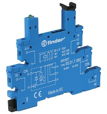 Finder Base 5 Pin P/Relevador Mini Fam 34.51 SKU: 93.01.0.125