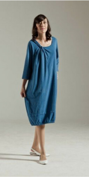 Women's Blue 100% Cotton Dress