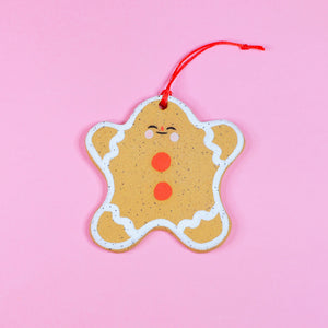 Chubby Gingerbread Cookie Ornament