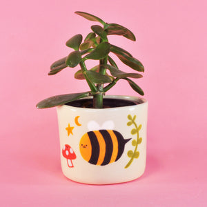 "Chubby Bee Planter- 3"" (seconds)"