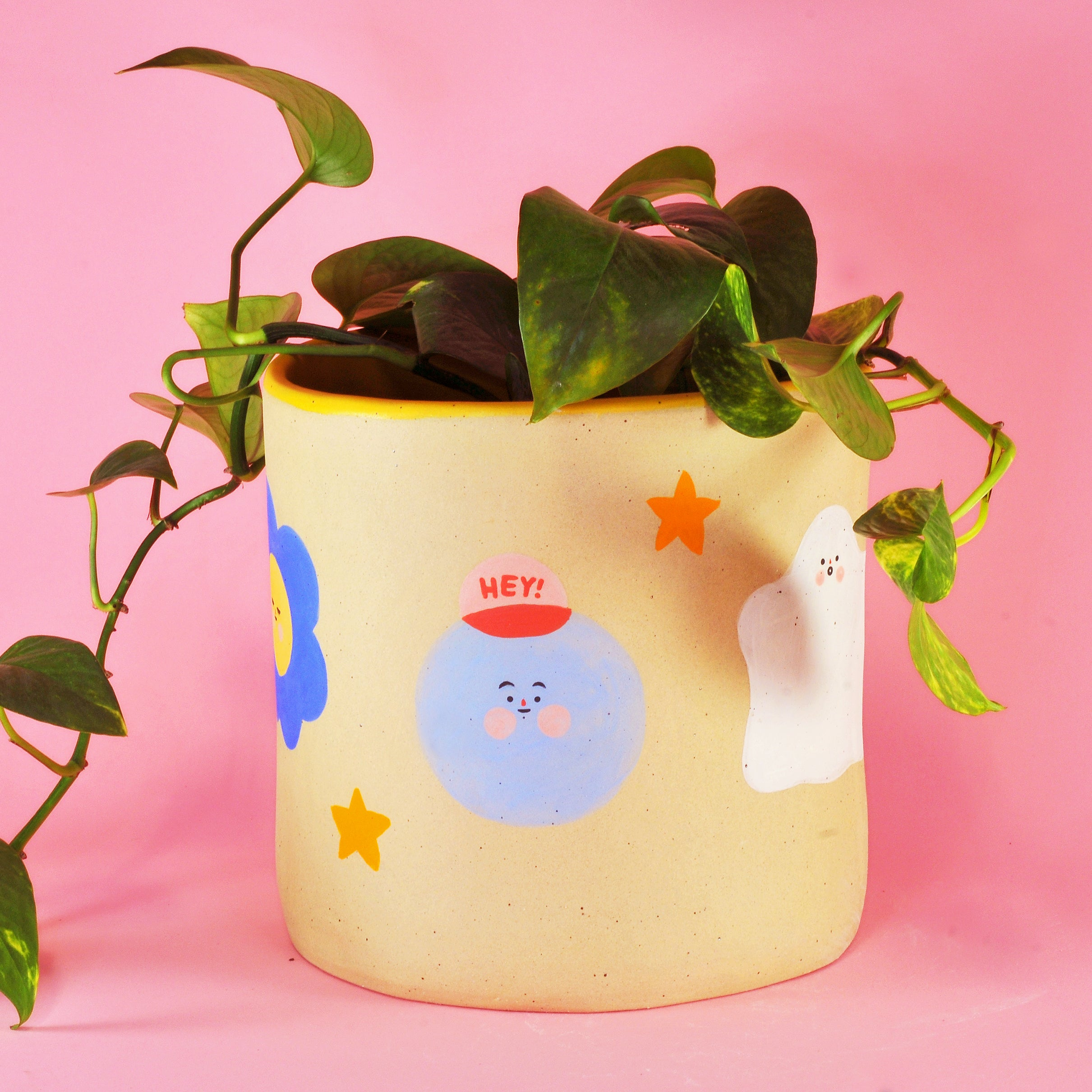 Big Ghost, Bby Ghost and Friends Planter- 7""