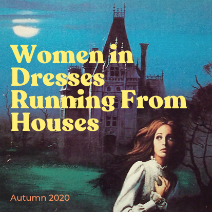 Women in Dresses Running From Houses