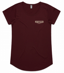 Ladies Mali Burgundy Tee