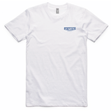 White OG Tee With Blue Print