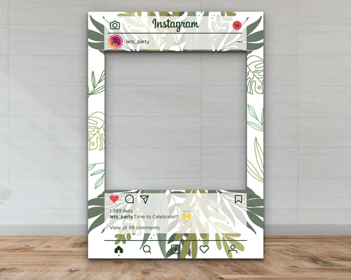 Plant Customisable Instagram Selfie Frame-Selfie Frames