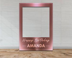 Rose Gold Customisable Birthday Selfie Frame-Selfie Frames