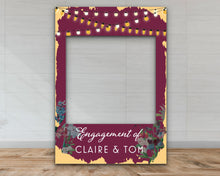 Load image into Gallery viewer, Customisable 'Night Lights' Engagement Party Selfie Frame-Selfie Frames