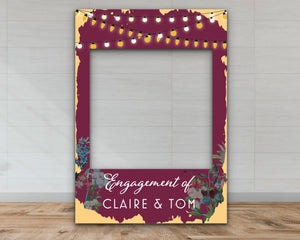 Customisable 'Night Lights' Engagement Party Selfie Frame-Selfie Frames