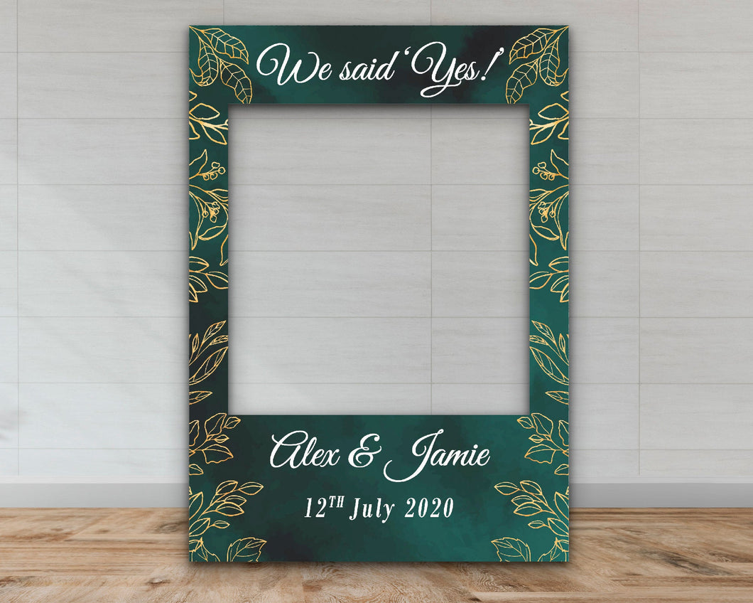 Customisable 'We Said Yes' Engagement Selfie Frame-Selfie Frames