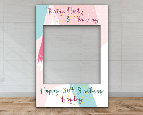 Customisable 30th Birthday Selfie Frame-Selfie Frames