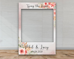 Customisable 'Tying the Knot' Engagement Selfie Frame-Selfie Frames