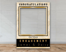Load image into Gallery viewer, Customisable Art Deco Engagement Selfie Frame-Selfie Frames