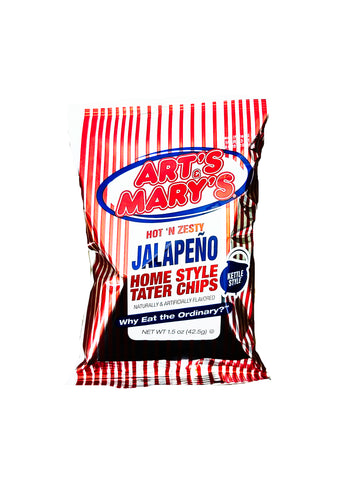 Art's & Mary's - Jalapeno Home Style Tater Chip 1.5oz bags
