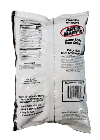 Art's & Mary's - Salt 'N Crack'D Pepper Home Style Tater Chips