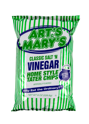 Art's & Mary's - Variety Case Vinegar Home Style Tater Chips (Jalapeno & Vinegar)