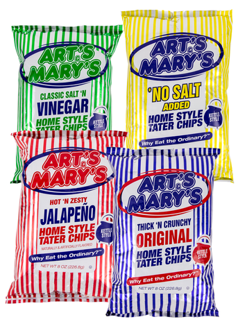 Art's & Mary's - Variety Case Home Style Tater Chips