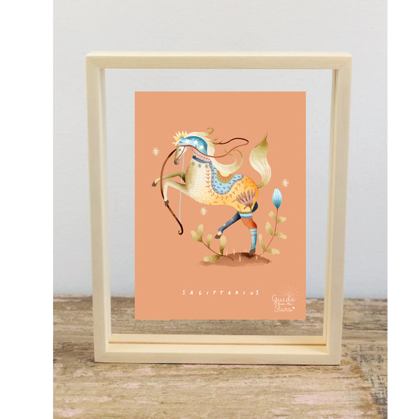 Sagittarius Star Sign Picture Frame - Guide from the Stars