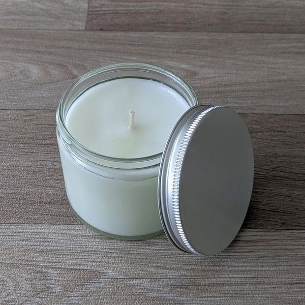 LARGE JAR CANDLE (STARCHED LINEN)