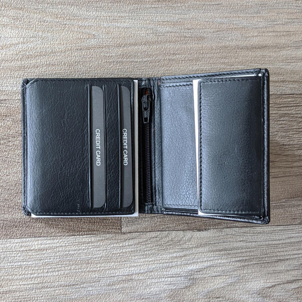 BLACK LEATHER WALLET (FISHING)