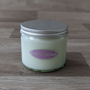 LARGE JAR CANDLE (GERANIUM & PATCHOULI)