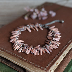 COPPER GLASS BEADED BRACELET