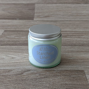 SMALL JAR CANDLE (STARCHED LINEN)