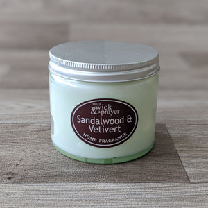LARGE JAR CANDLE (SANDALWOOD & VETIVERT)