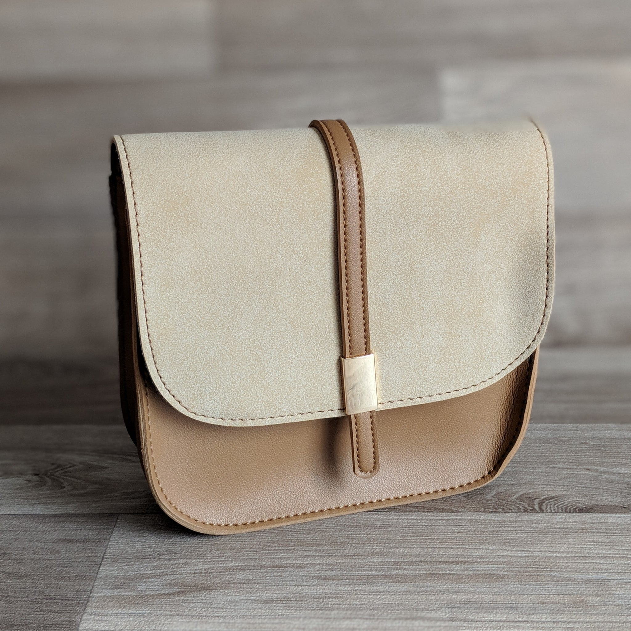 SMALL SATCHEL HANDBAG (BEIGE)