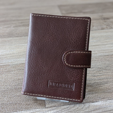 LEATHER CREDIT CARD HOLDER (BROWN)