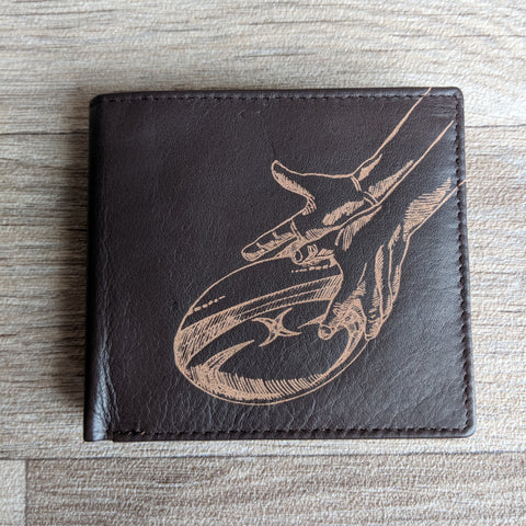 BROWN LEATHER WALLET (RUGBY)