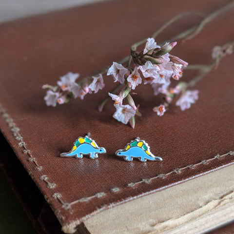DINOSAUR STUD EARRINGS