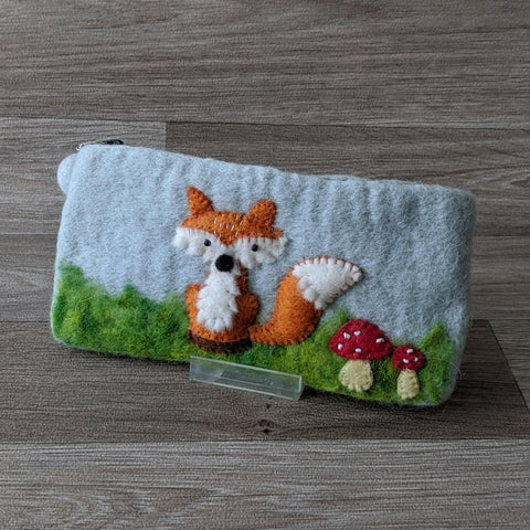 FELTED FOX PENCIL CASE