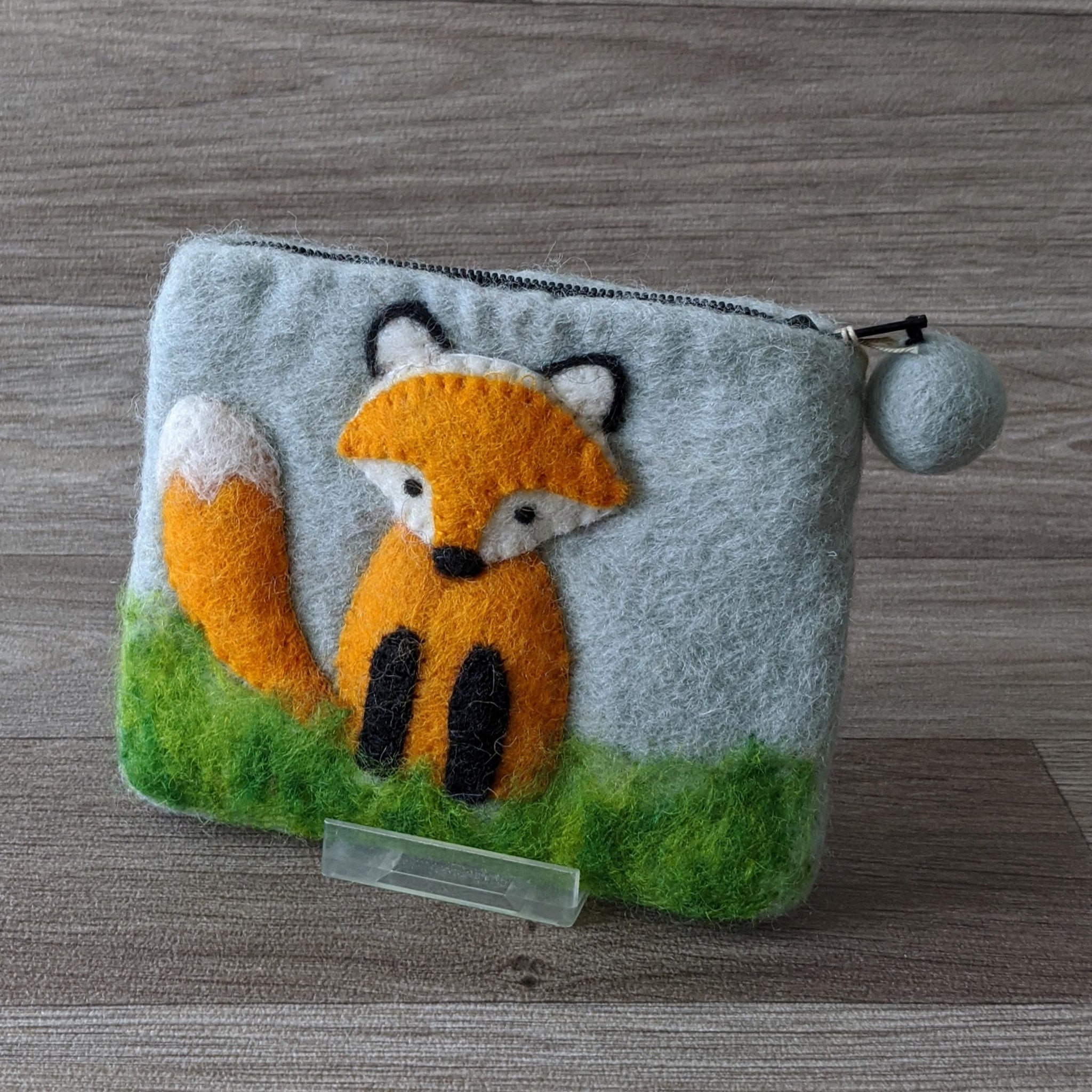 FELTED FOX COIN PURSE