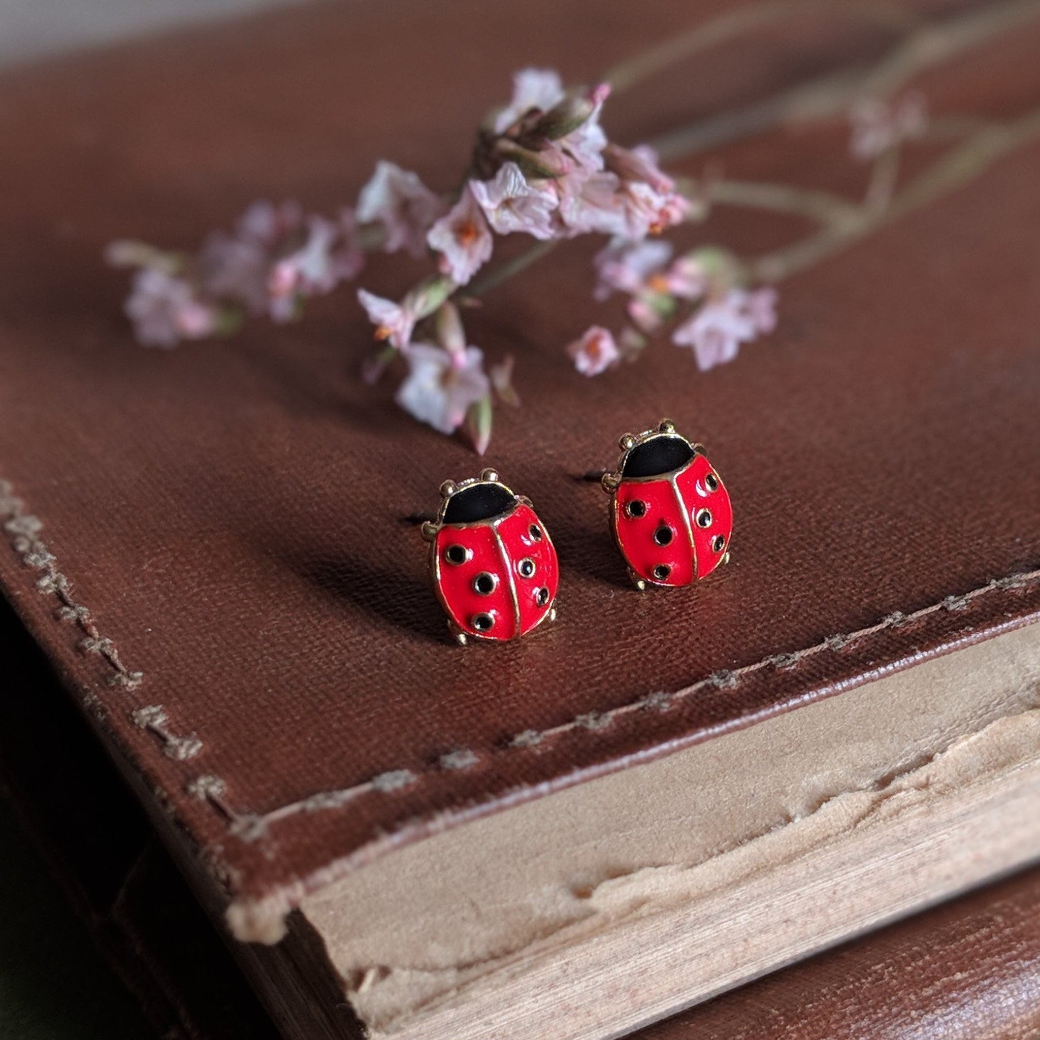 LADYBIRD STUD EARRINGS