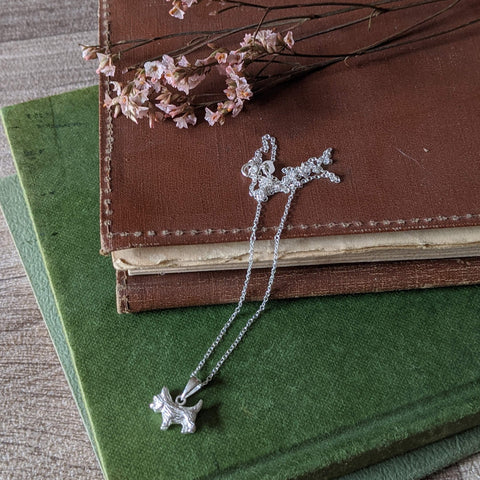 STERLING SILVER TERRIER NECKLACE