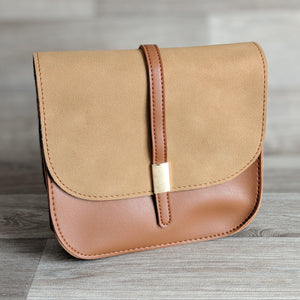 SMALL SATCHEL HANDBAG (TAN)