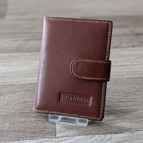 LEATHER CREDIT CARD HOLDER (TAN)