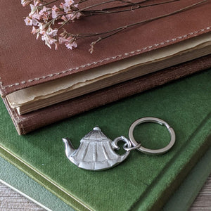 PEWTER TEAPOT KEY RING