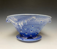 Load image into Gallery viewer, Large Cobalt Blue and White Berry Bowl