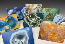 Load image into Gallery viewer, Crystalline Greeting Card- 'Blue Galaxy'