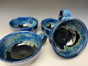 Galaxy Blue Soup Mug