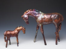 Load image into Gallery viewer, Copper Raku Horse 776