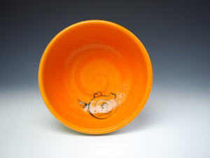 PIGGERY- Cereal bowl in orange #2